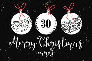 SALE! 30 Merry Christmas gift cards!
