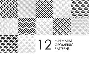 12 Minimalist Geometric Patterns