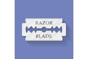 Razor blade icon symbol. Flat style