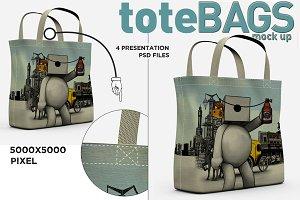 4 Tote Bags