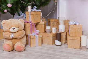 Christmas decorations gifts and toys