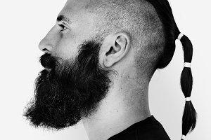 Adult Beard Man Face (PSD)
