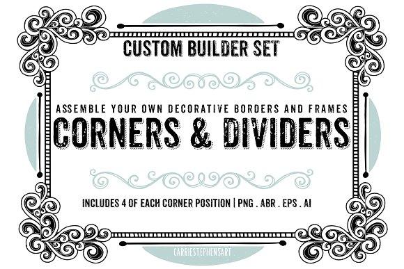 Decorative Borders Corners Frames Illustrations Creative Market