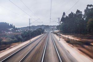 Railway motion blur shooting