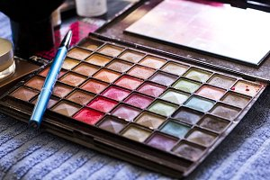 Colourful make up pallet