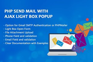Php Send Mail With Ajax Light Box