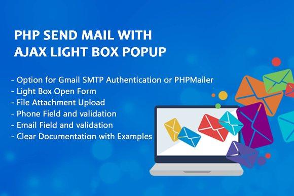 Php send mail with ajax light box htmlcss themes creative market php send mail with ajax light box htmlcss maxwellsz