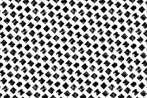 Grunge squares black/white pattern
