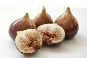 Fresh fig fruit isolated on white