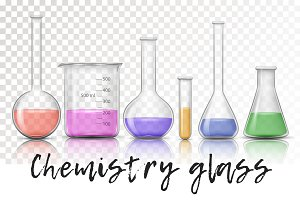Chemical glass set