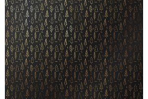 Abstract pattern texture gold forest tree. Vector golden and black background