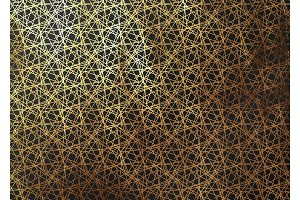 Abstract pattern texture gold lines. Vector golden and black background