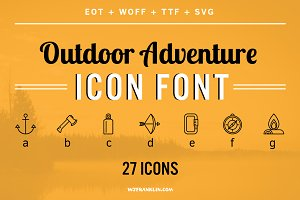 Outdoor Adventure Icon Font