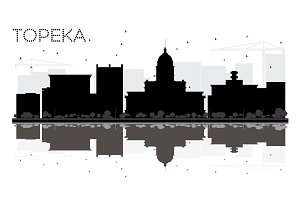 Topeka Kansas USA City skyline