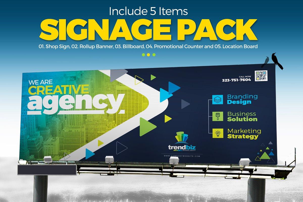 Digital Signage : Banner, Billboard ~ Stationery Templates
