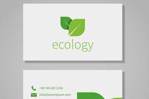 Eco company business card template
