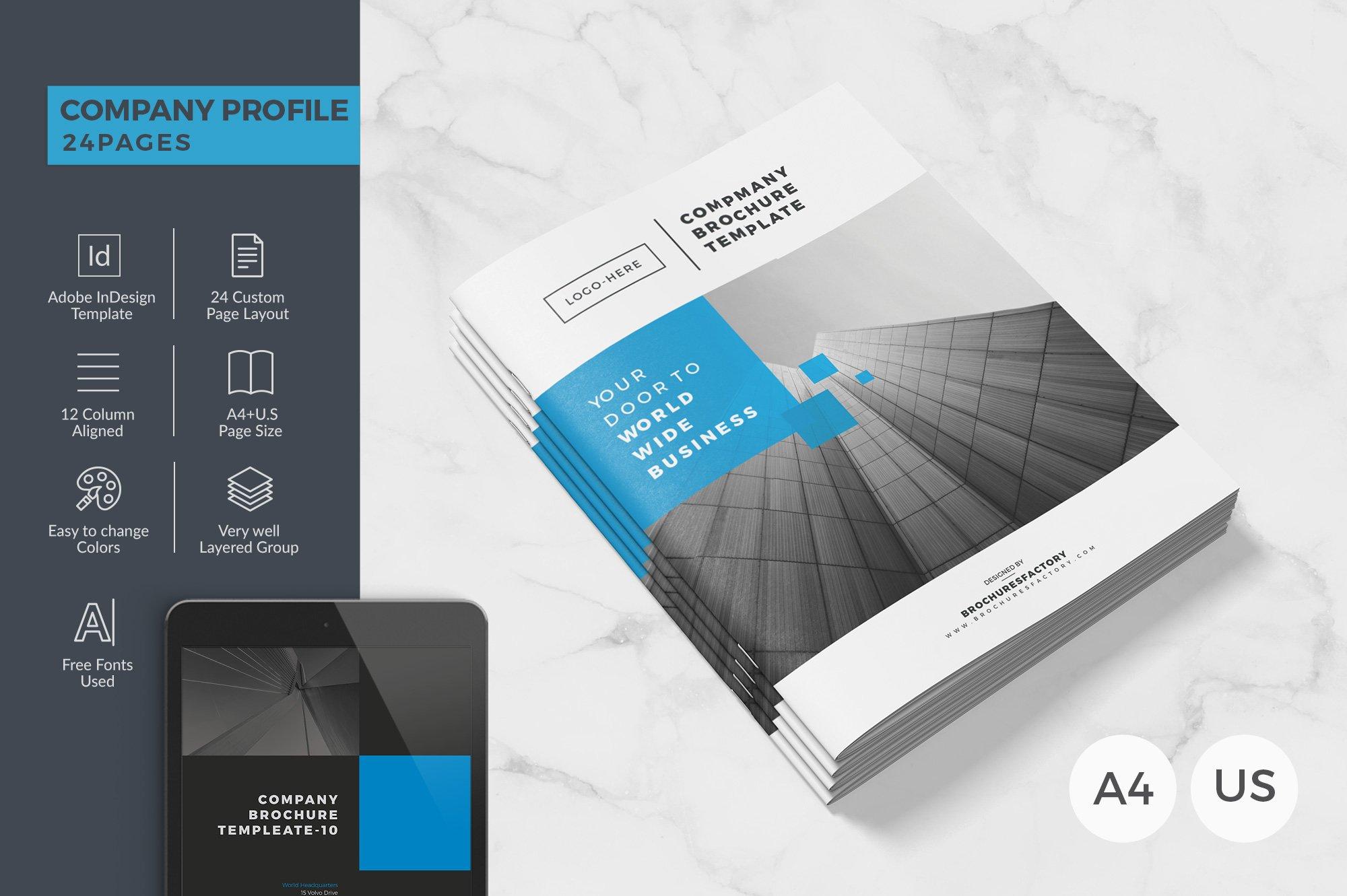 Company Brochure 24 Pages Brochure Templates Creative Market