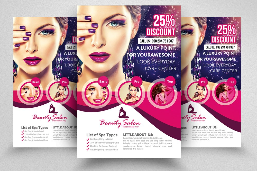 Salon Flyer Template Flyer Templates Creative Market