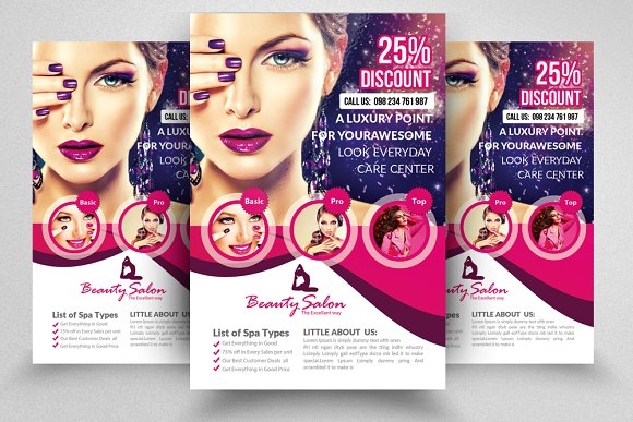 salon flyer template flyer templates creative market