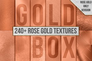 240+ Rose Gold Foil Texture Pack