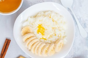 Rice porridge with butter,