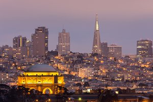 The Palace and San Francisco Skyline