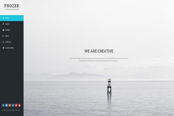 Phozer - Photography HTML5 Template ~ Bootstrap Themes ~ Creative Market