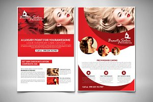 Salon Flyer Template With 2 Layouts