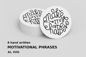 Motivational phrases set