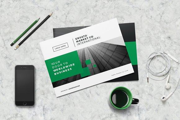 a5 landscape company brochure brochure templates creative market