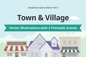Scene Maker Vol.1 Town & Village