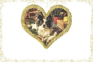 Christmas vintage greeting card
