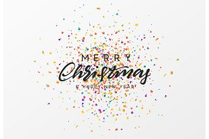 Merry Christmas calligraphy text.