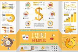 Casino (Gambling) Infographics Set