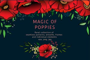 Magic of poppies - floral collection