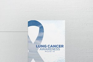 Lung Cancer Awareness Flyer Template