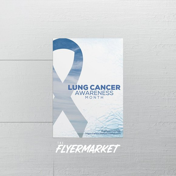lung cancer awareness flyer template flyer templates creative market