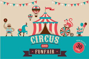 Circus & Funfair icons  templates