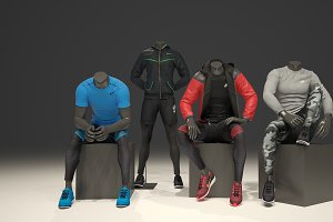 Male mannequin Nike pack 2