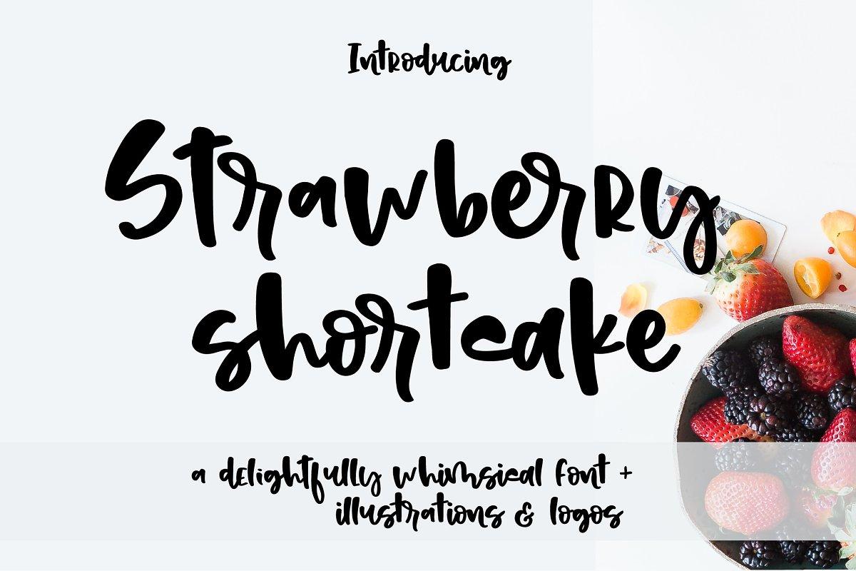 Strawberry Shortcake Font & Extras ~ Script Fonts ~ Creative