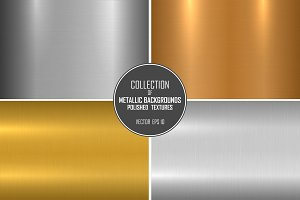 Polished metal textures, backgrounds
