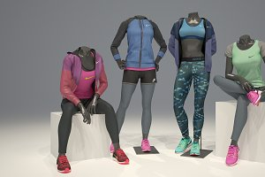 Female mannequin Nike pack 3