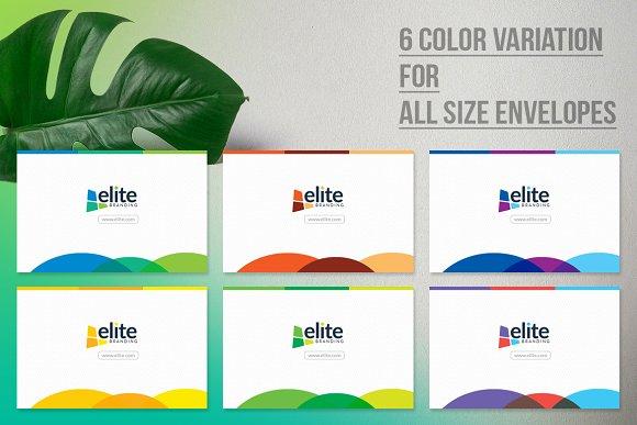 Business Envelope Bundle Stationery Templates Creative Market