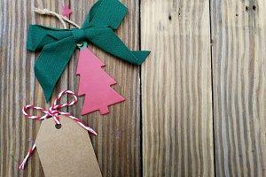 New Year and Xmas ragged card