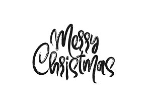 Merry Christmas, hand drawn letterin