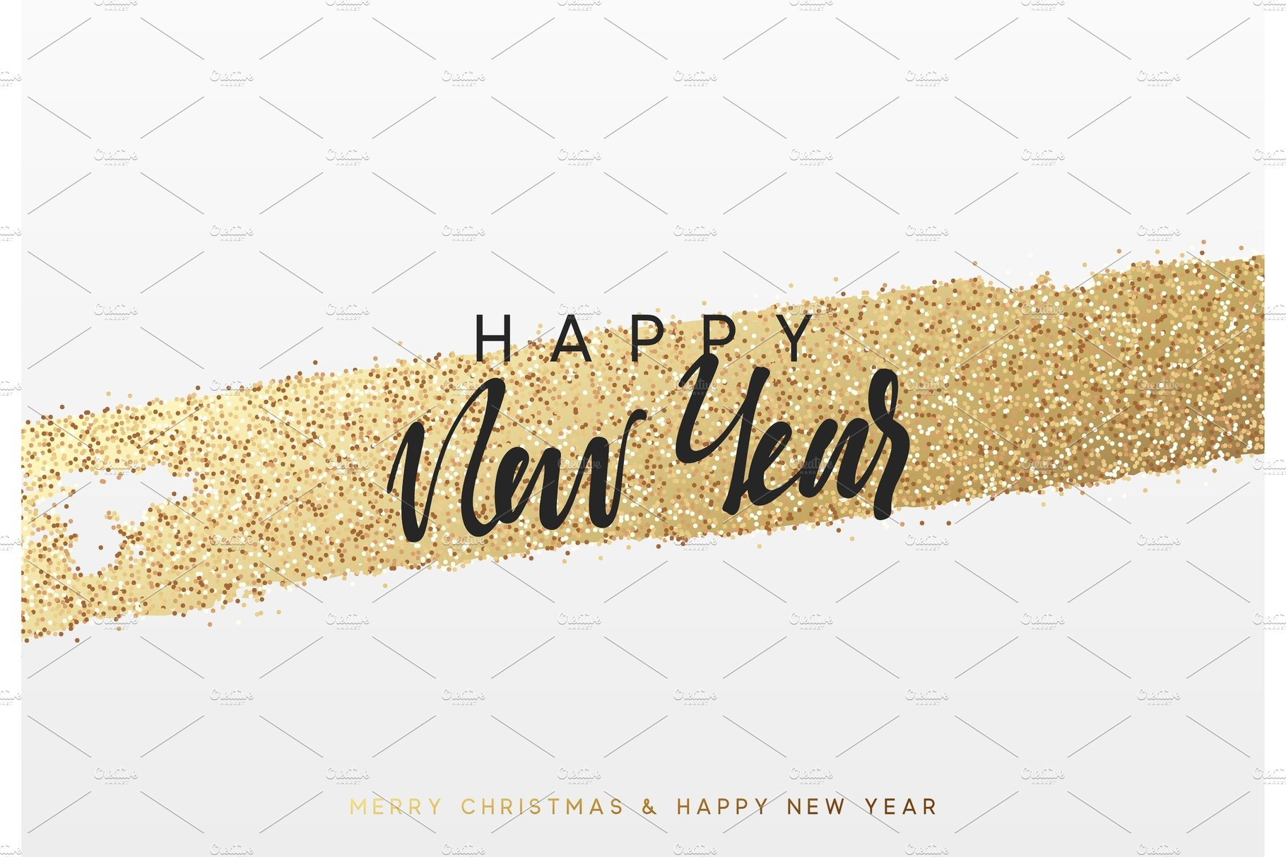christmas and new year background with shining gold paint brush xmas greeting card graphic objects creative market