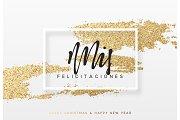 Spanish lettering Mis felicitacuones.