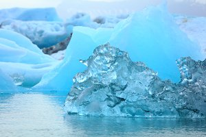 Detail of a little blue iceberg