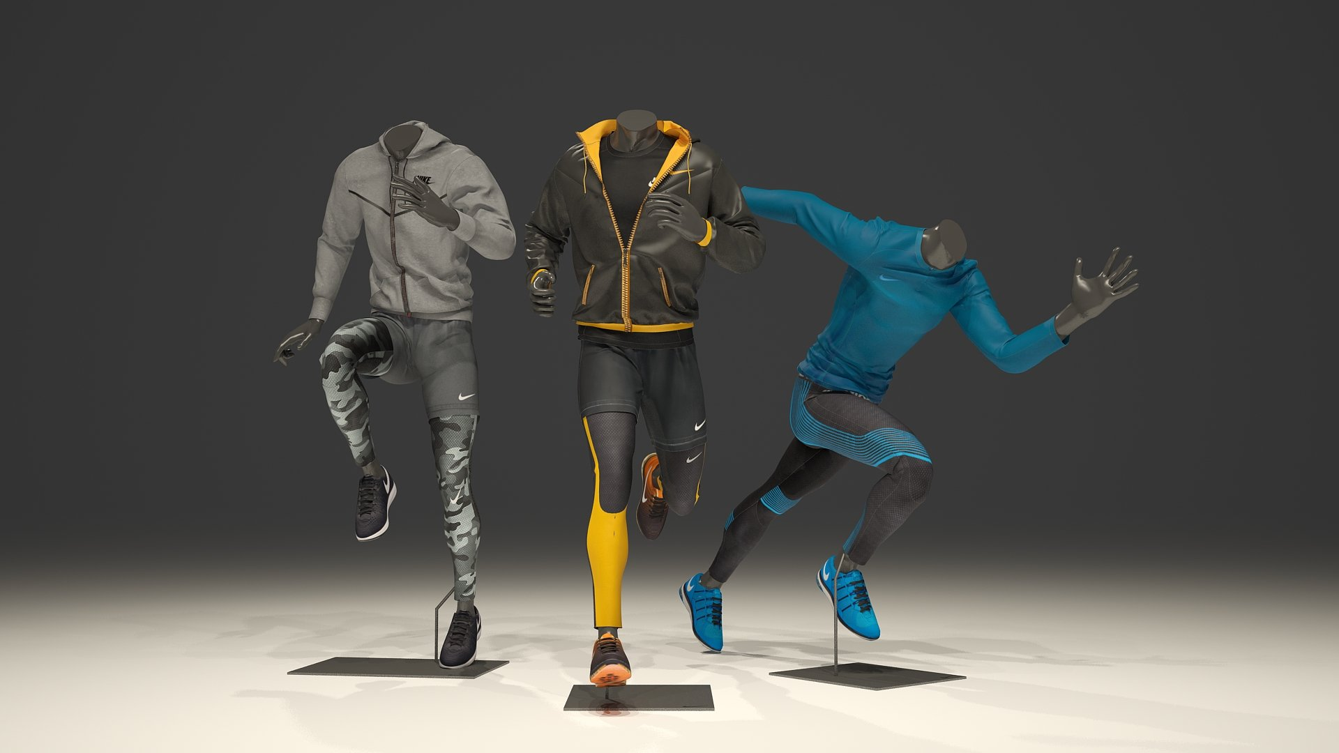 male mannequin nike pack 3 people creative market. Black Bedroom Furniture Sets. Home Design Ideas