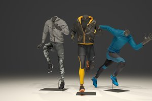Male mannequin Nike pack 3